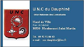 Blog de l'Union Nationale des                     Combattants du Dauphiné